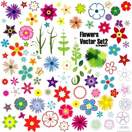 Flowers Vector Set 2