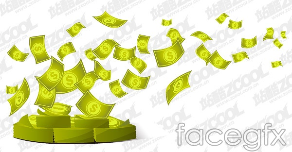 Fly away money vector