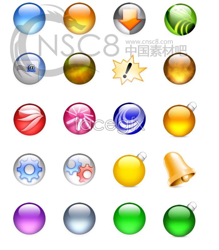 Fog crystal ball icons