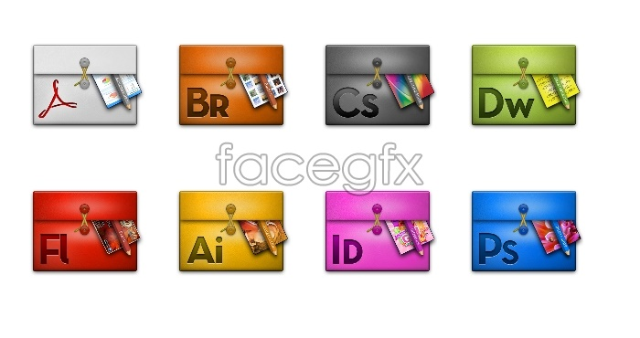 Folder icons Adobe cs6 series software