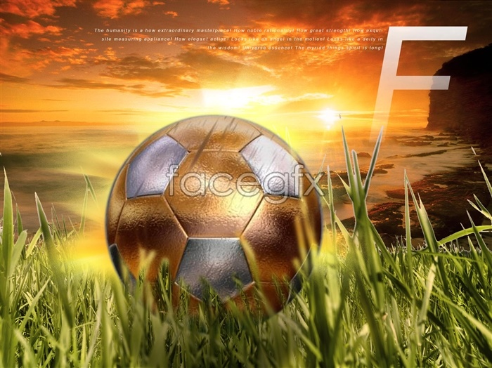 Football World Cup gold PSD