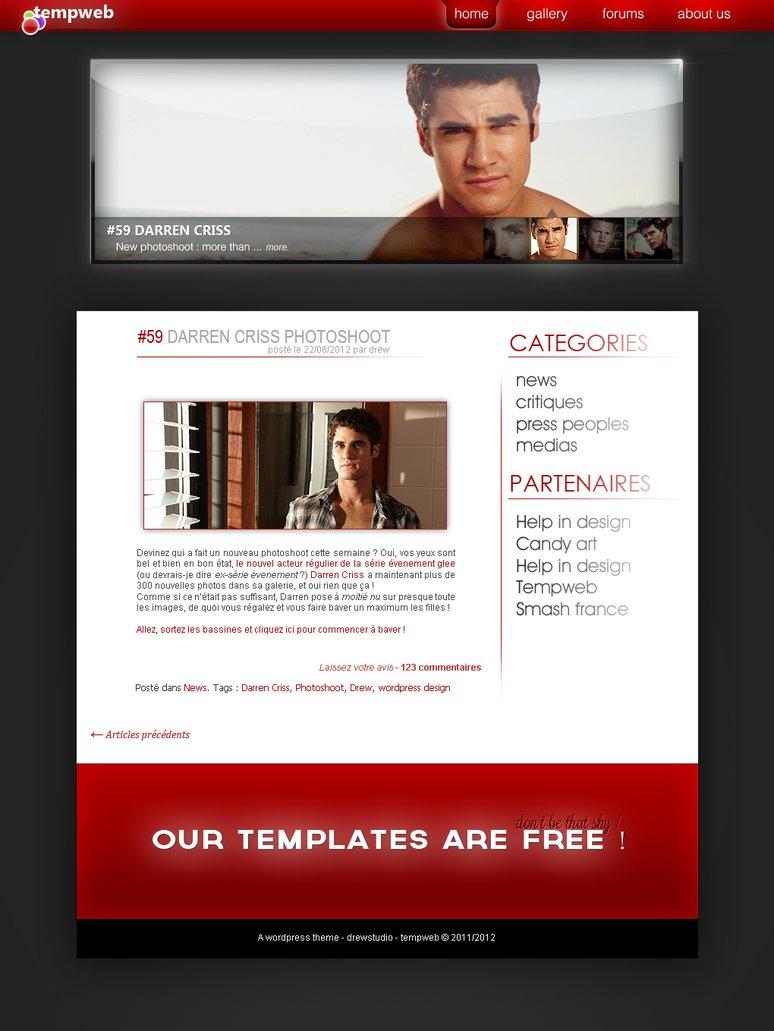 Free blog design