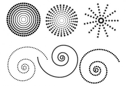 Free dotted patterns