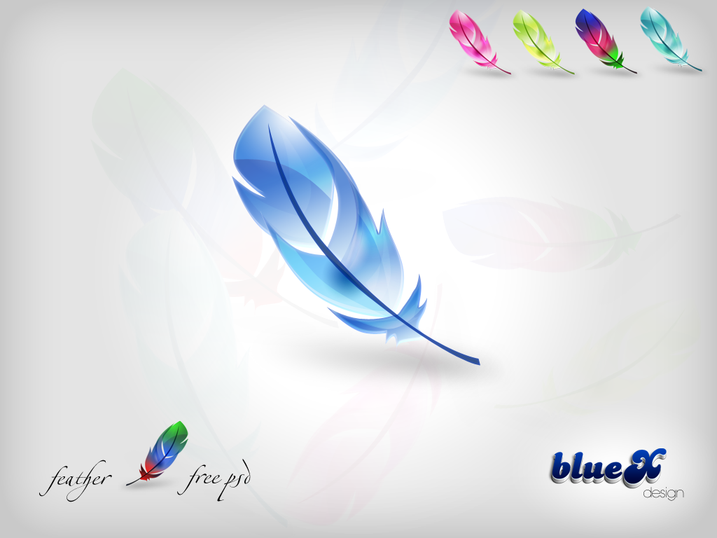 FREE Feather Icon PSD