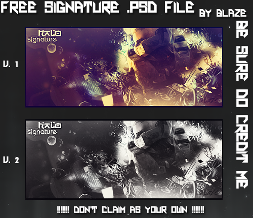 Free Signature .PSD #2 by Blaze