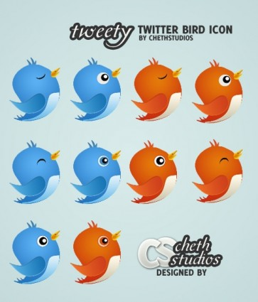 Free Twitter Bird Icon pack icons pack