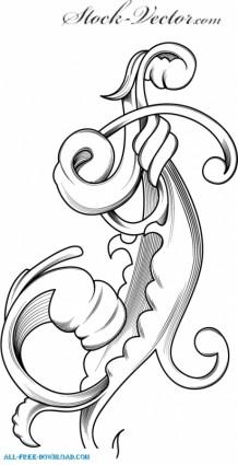Free vector engraved flower