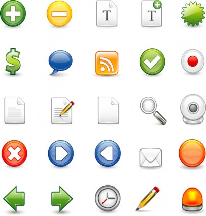 Free Vector Icons Set 1 icons pack