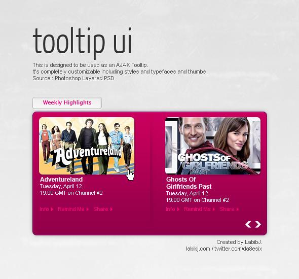 Freebie – Tooltip UI