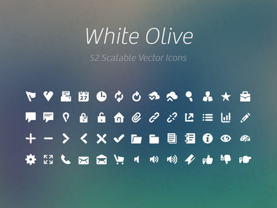 Freebie: White Olive Icon Collection