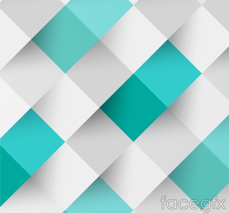 Fresh White Green Spell Grid Backgrounds Vector