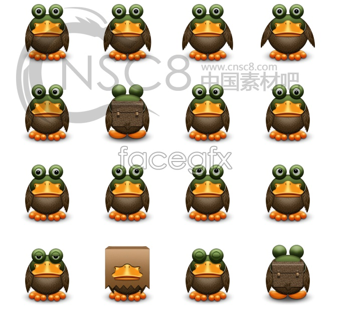 Frog face desktop icons