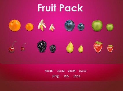 Fruit Icons Pack icons pack