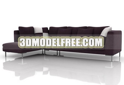 Stupendous Furniture 3D Model Black And Brown Sofa 3Ds Max Model Download Free Architecture Designs Intelgarnamadebymaigaardcom