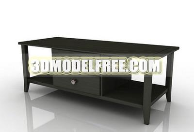 Furniture 3D Model: Dark Color TV Bench 3dmax Model