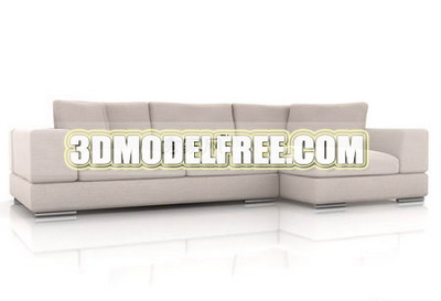 Superb Furniture 3D Model Modern Style Creamy Sofa Combination 3Ds Download Free Architecture Designs Intelgarnamadebymaigaardcom