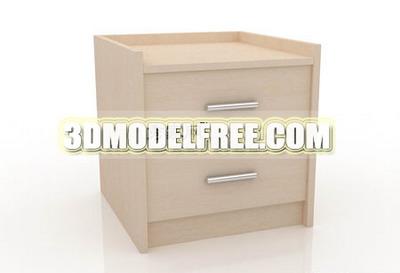 Furniture 3Ds Max Model: Light Color Bedside Carbinet