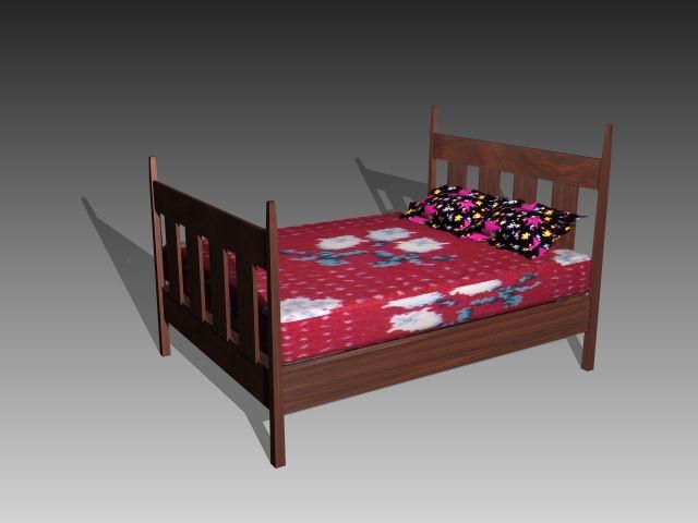 Furniture – beds a018 3D Model