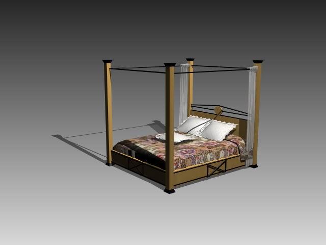 Furniture – beds a026 3D Model