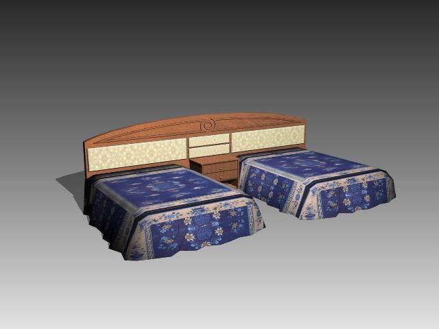 Furniture – beds a029 3D Model
