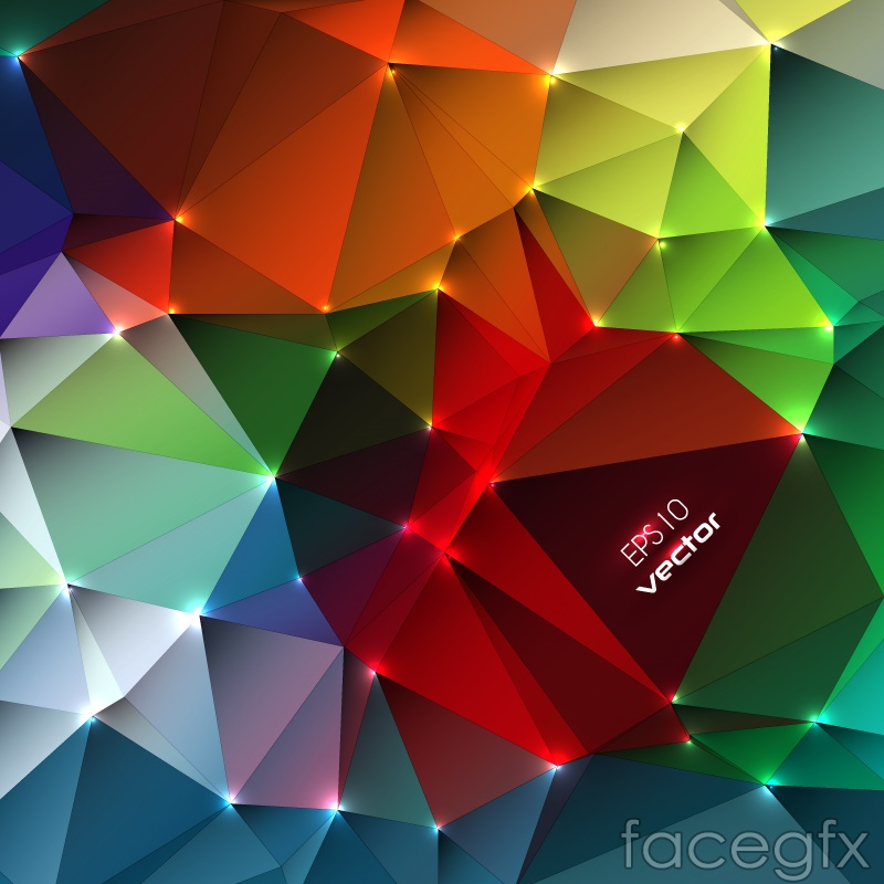 Geometry Color Abstract Background Vector Over Millions