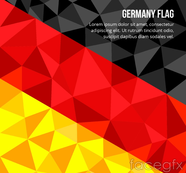 Geometry germany flag background vector over millions vectors geometry germany flag background vector toneelgroepblik Gallery