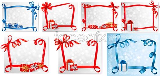 Gift Ribbon border Vector