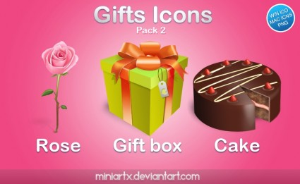 Gifts icons pack 2 icons pack
