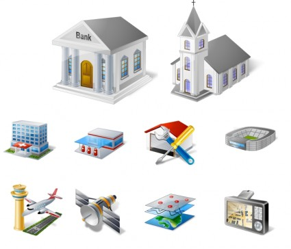 GIS/GPS/MAP Icon Set icons pack