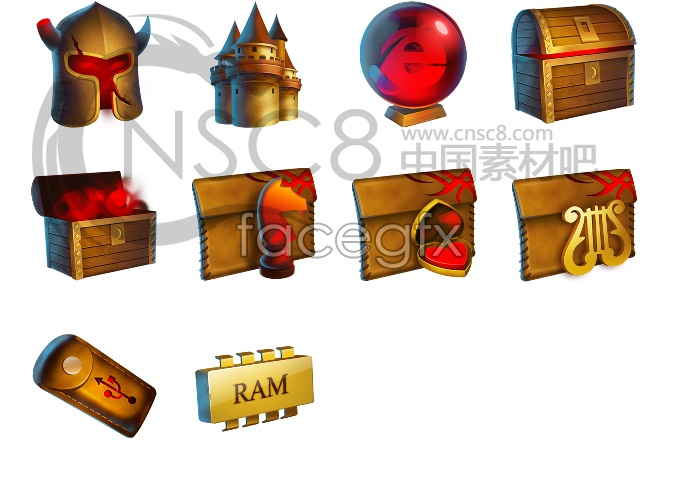 Gold Castle computer icons