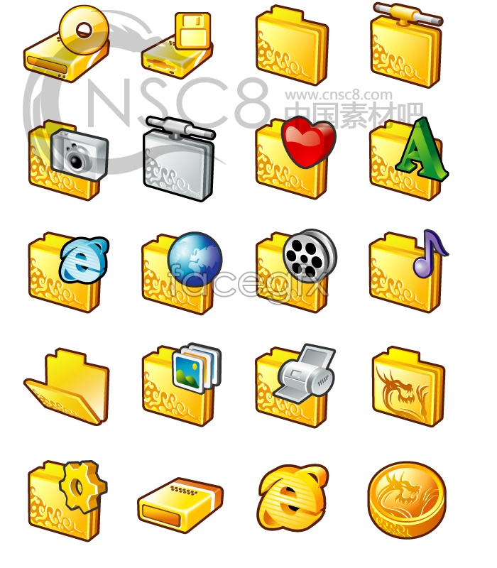 Gold systems computer icons