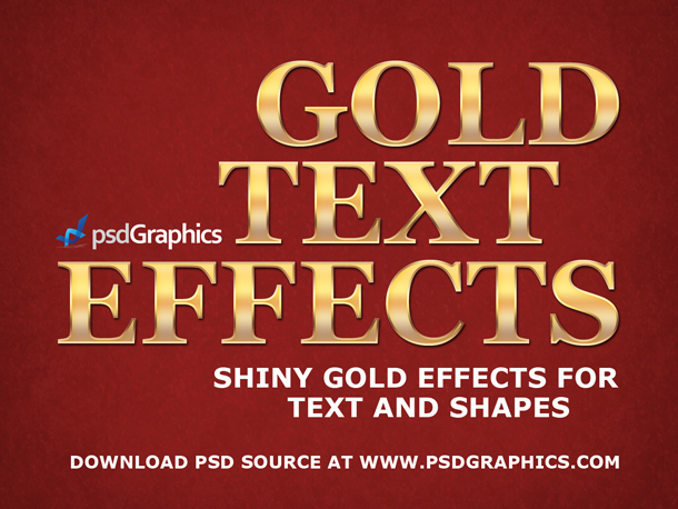 Gold text effects in Photoshop PSD