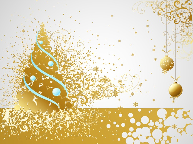 Christmas Vector Free Download.Golden Christmas Vector Card Free Over Millions Vectors