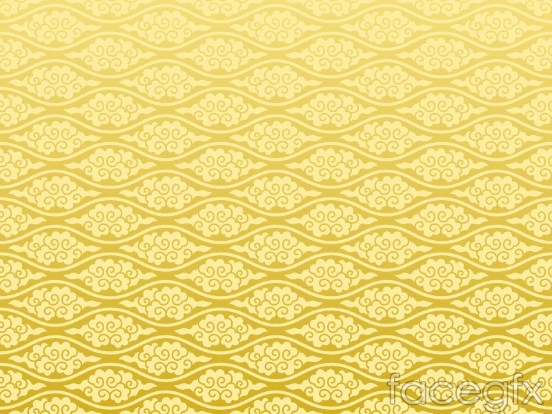 Golden clouds background pattern vector