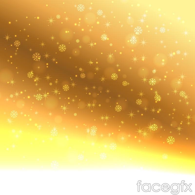 Golden snowflake background vector