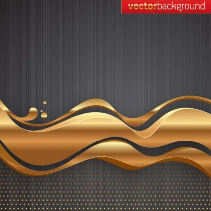 golden wave to the background vector