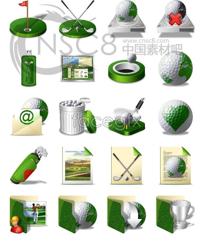 Golf desktop icons