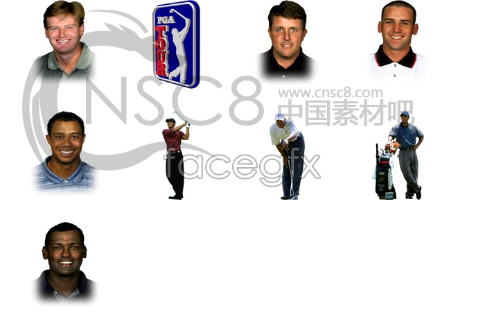 Golf star icons