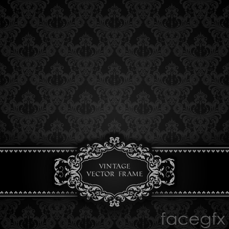 Gorgeous black continental patterns card vector