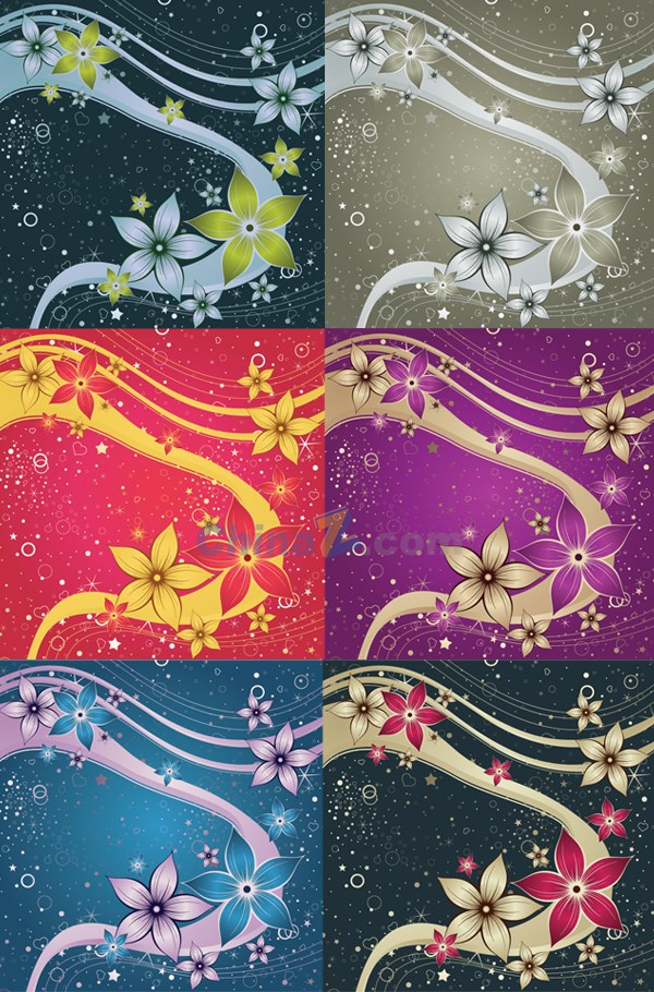 Gorgeous colorful floral background vector