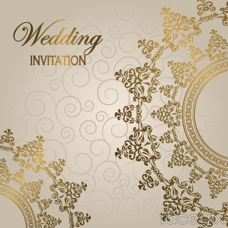 Gorgeous european wedding invitation card vector over millions gorgeous european wedding invitation card vector toneelgroepblik