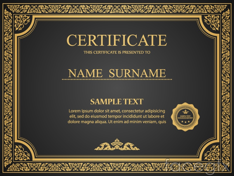 Gorgeous gold certificate design vector over millions vectors gorgeous gold certificate design vector free download gorgeous gold certificate yadclub Image collections
