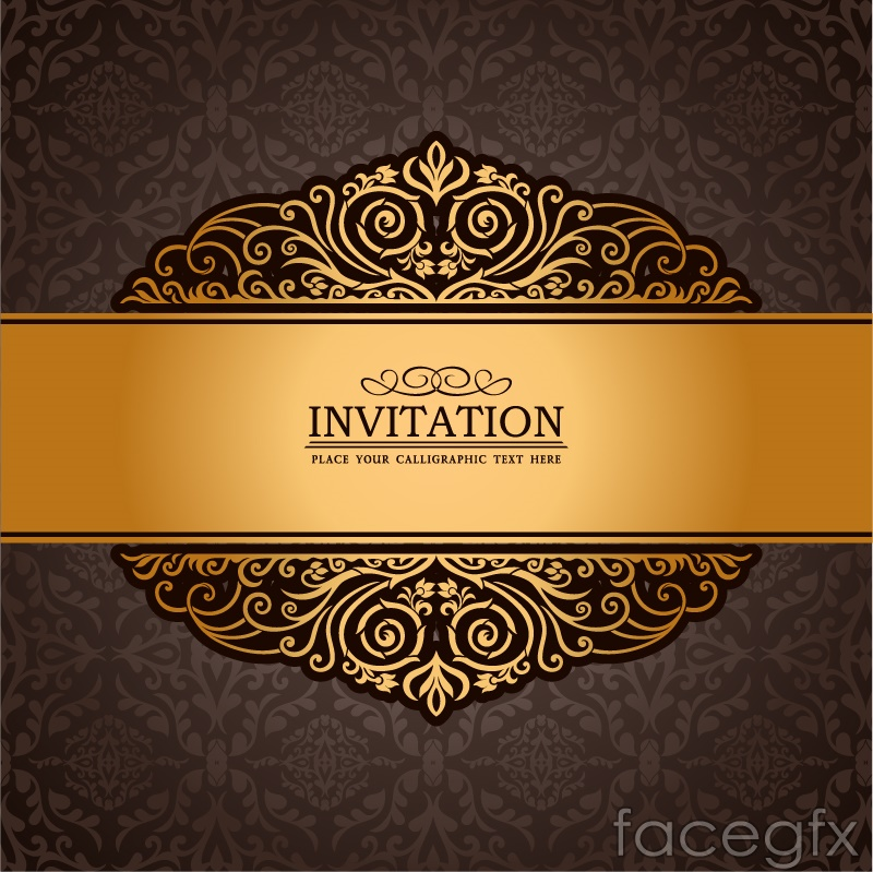 Gorgeous golden invitation card vector over millions vectors gorgeous golden invitation card vector stopboris Images