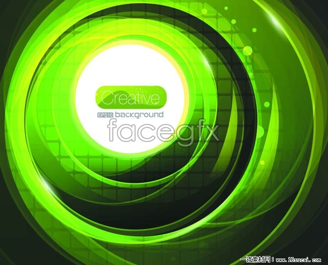 Gorgeous green glowing background vector