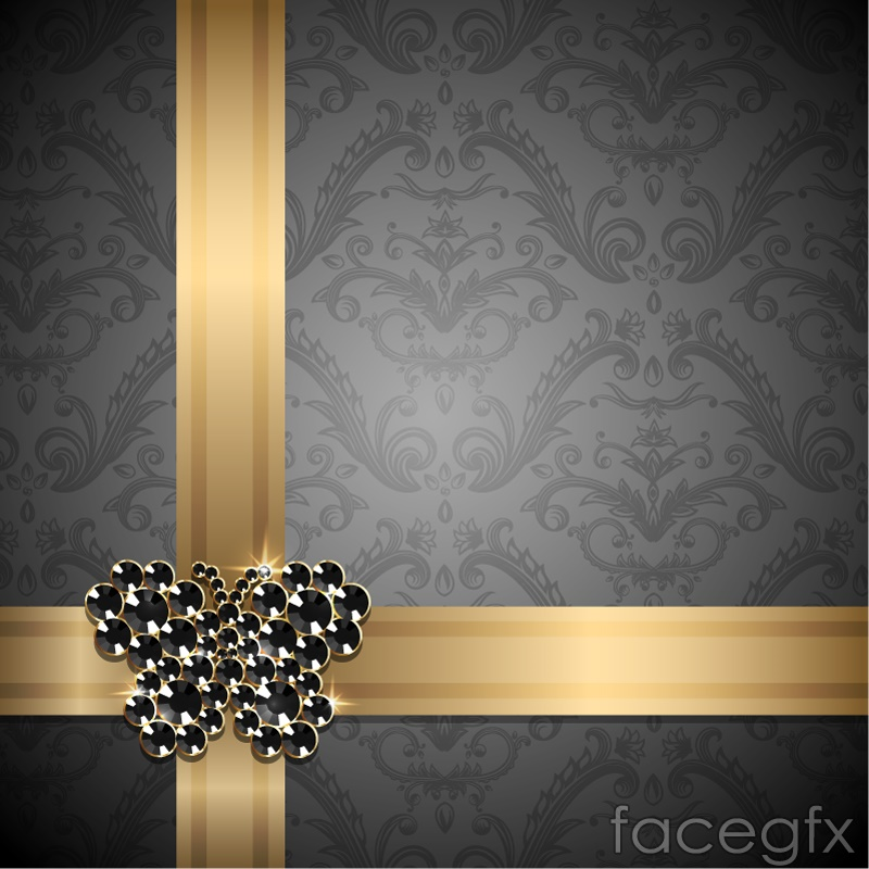 Gorgeous jewelry butterfly decoration background vector over gorgeous jewelry butterfly decoration background vector free download toneelgroepblik Image collections
