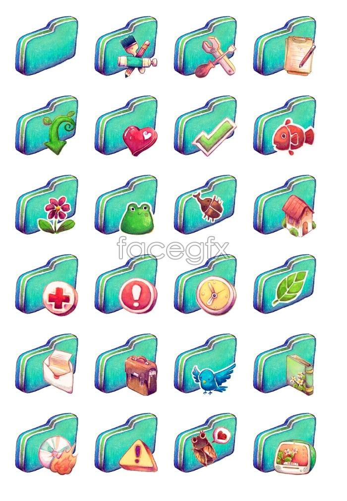 Grass green folder icon