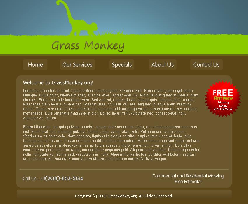 Grass Monkey Site Design