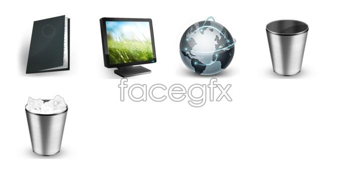 Gray tones desktop icons