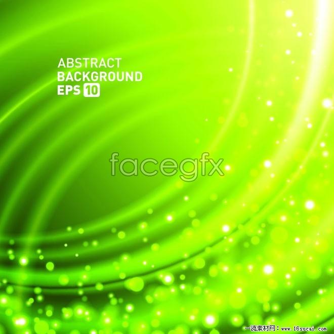 Green fancy spot background vector