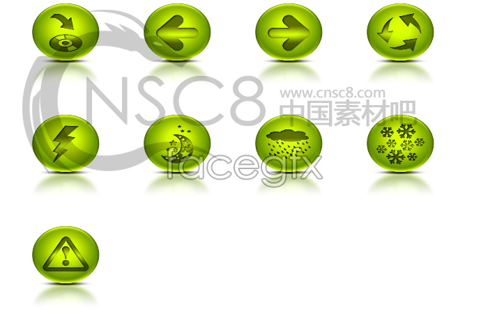 Green flag computer icons